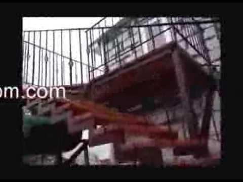 смонтированная уличная лестница для дома