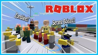ZOMBIE GAWAT ATTACK!! THE TOWER DEFENCE SIMULATOR-ROBLOX UPIN IPIN