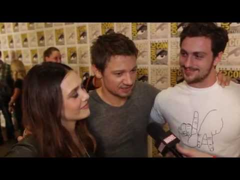 After the Panel: Elizabeth Olsen & Aaron Taylor-Johnson On Being Avengers Newbies at Comic-Con 2014