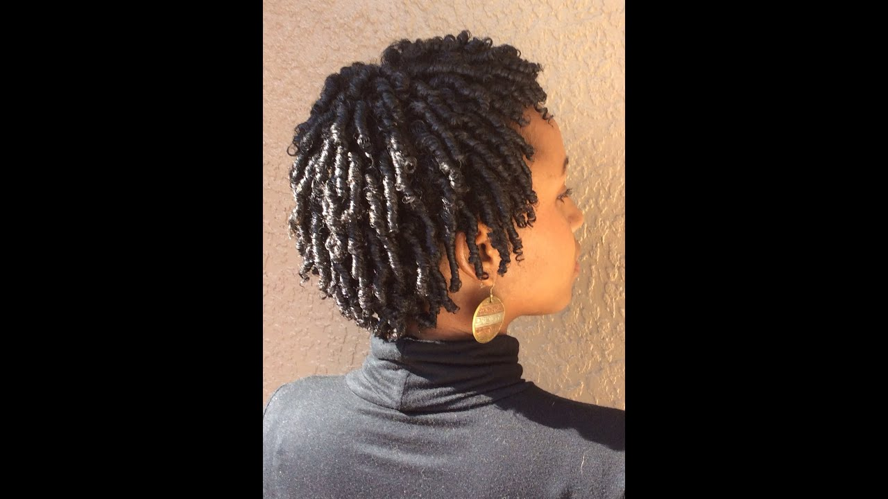 Natural Hair My Finger Coil Technique YouTube