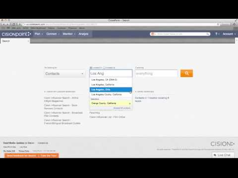 Search and List Building with Cision