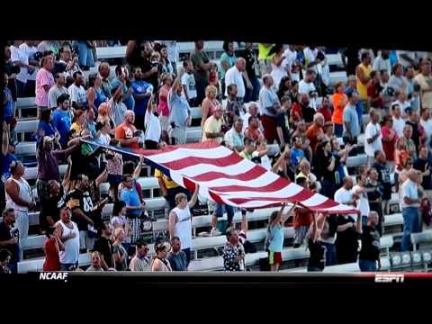 Saint Gertrude High School Ensemble sings National Anthem at RIR NASCAR Race