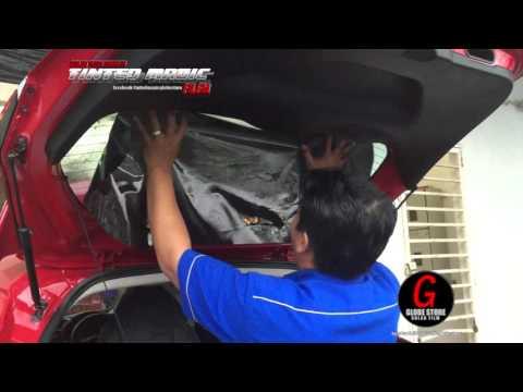 Kaedah Pemasangan Bagi Cermin Belakang@Bonet Kereta Hatchback/MPV - Tinted Magic Globe Store