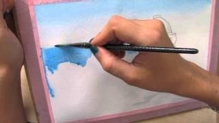 Рисуем море акварелью