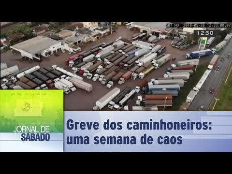 Greve dos caminhoneiros: uma semana de caos   Jornal de Sábado 28/05/2018