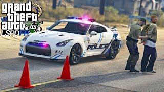 GTA V : MOD POLICIA : BLITZ POLICIAL SUPER AGITADA COM NISSAN GTR : EP. 191