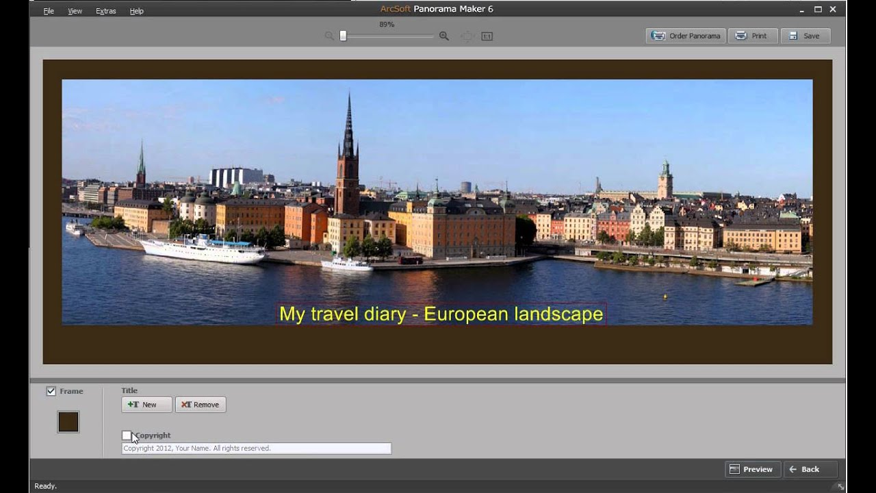How to add a frame with arcsoft panorama maker youtube how to add a frame with arcsoft panorama maker jeuxipadfo Gallery
