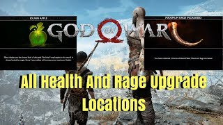 God of War All Health and Rage Upgrades
