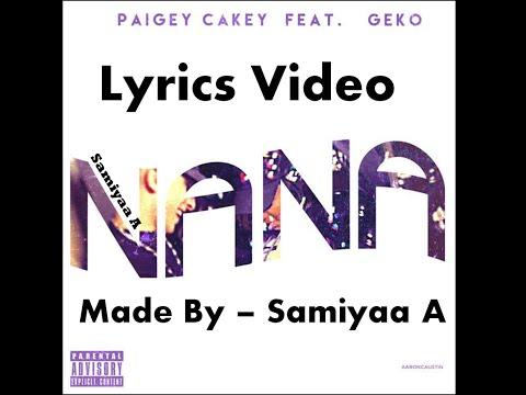 Paigey Cakey ft. Geko NaNa LYRICS