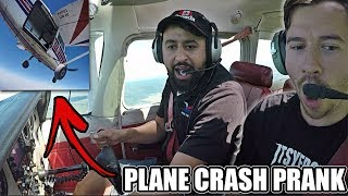 PLANE CRASH PRANK!! (ENGINE FAILURE 5,000 FT IN THE AIR)