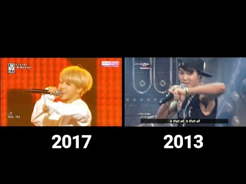 BTS - NO MORE DREAM /STAGE COMPARISON OF THE YEARS ;´)