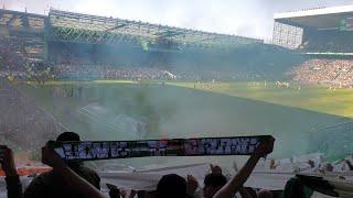 Celtic 2 - 1 Rangers   Atmosphere, Goal Celebrations, Morelos Red Card, Kent Goal & Last 5 Minutes