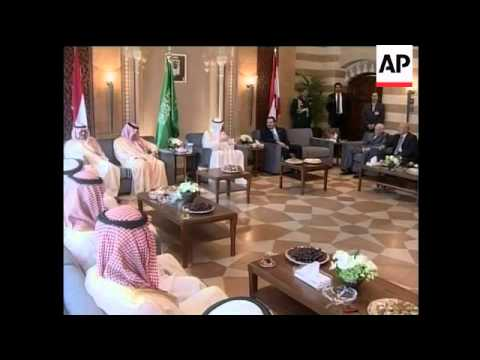 Saudi King Abdullah meets with Lebanon PM Saad Hariri