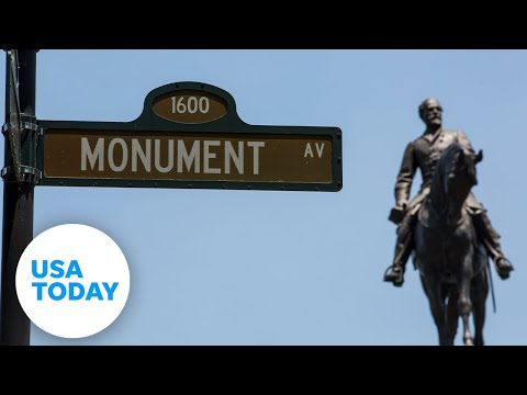 The removal of a statue of Confederate Gen. Robert E. Lee. from Richmond, Virginia