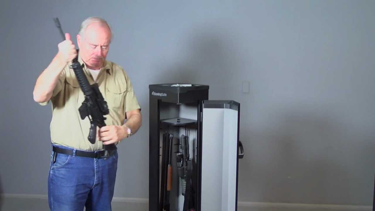 Rifle Rods help Sentry Home Defense gun safe  YouTube