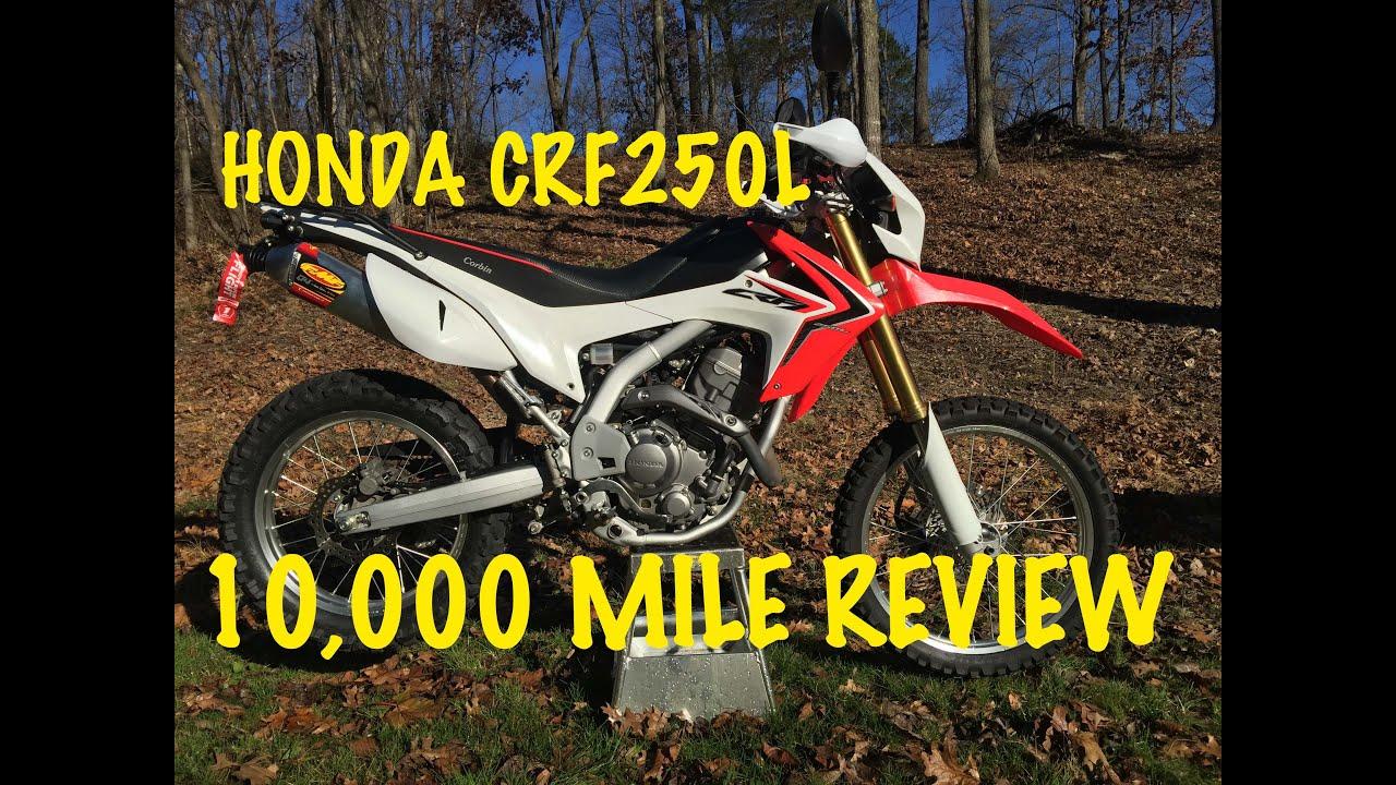 honda crf250l 10,000 mile review 10k dual sport motorcycle fmf crf