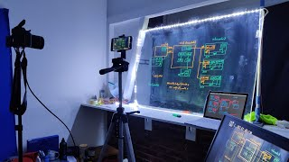 Lightboard setup