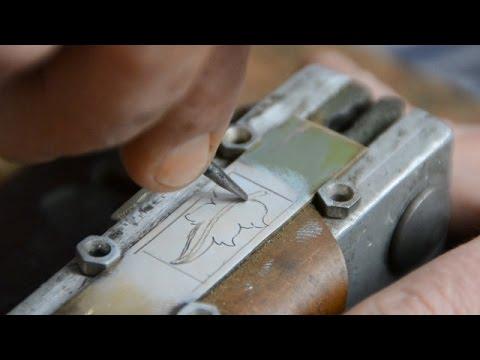 видео: Плоскорельефная гравировка