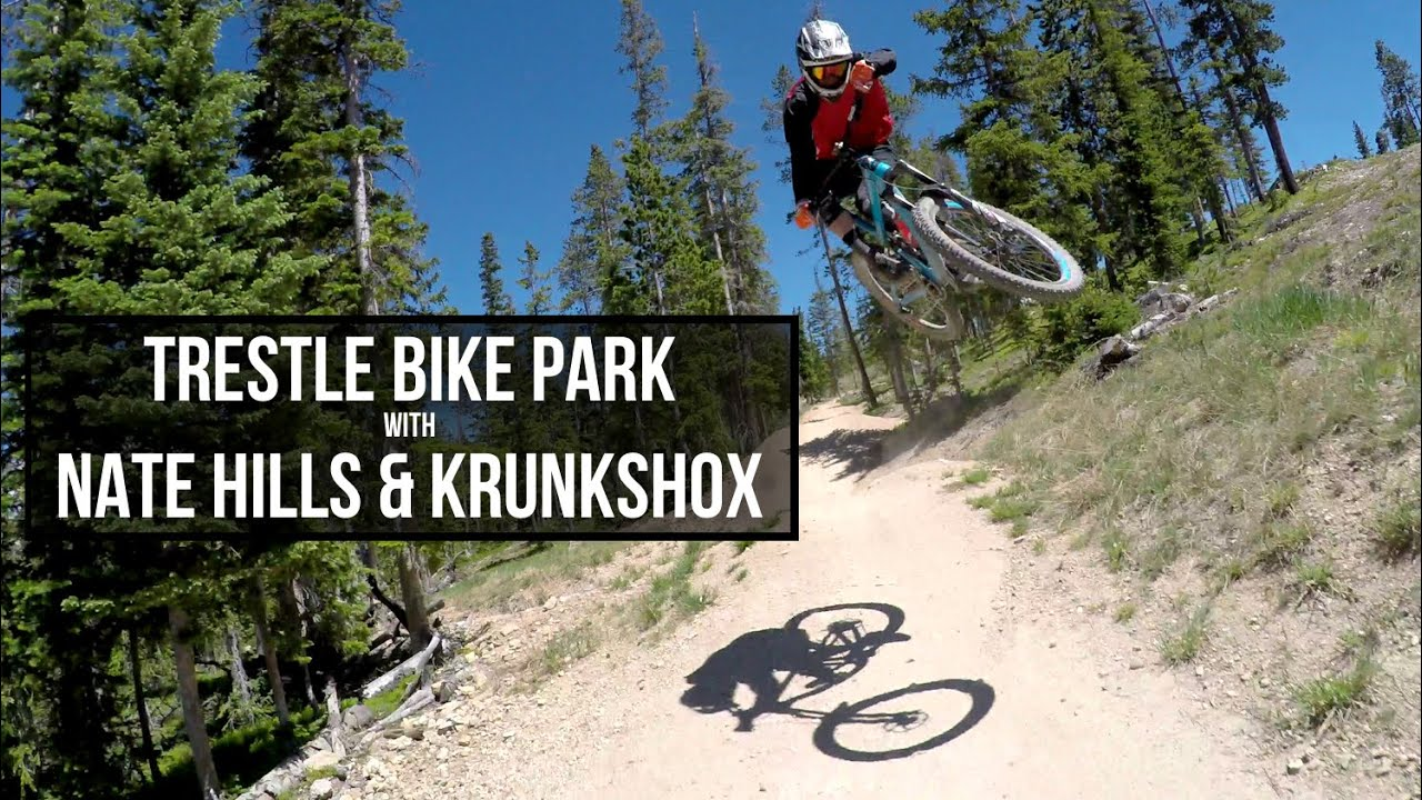 Trestle Bike Park With Nate Hills And Krunkshox Youtube