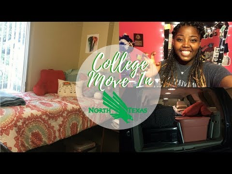 COLLEGE MOVE IN DAY VLOG || University of North Texas