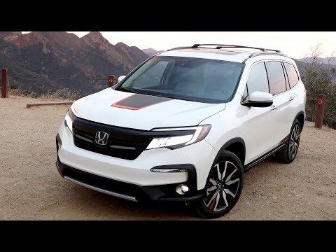 2019 Honda Pilot Elite AWD   White Diamond Pearl   Driving, Interior, Exterior