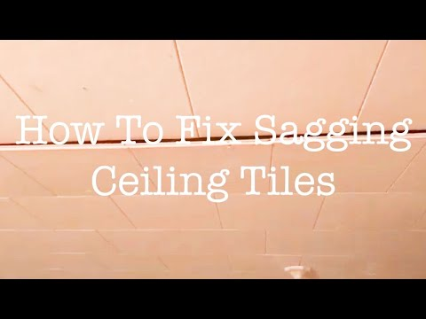 7 How To Fix Sagging Ceiling Tiles