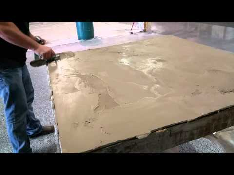 How To get a Burnished Look From Concrete Overlay