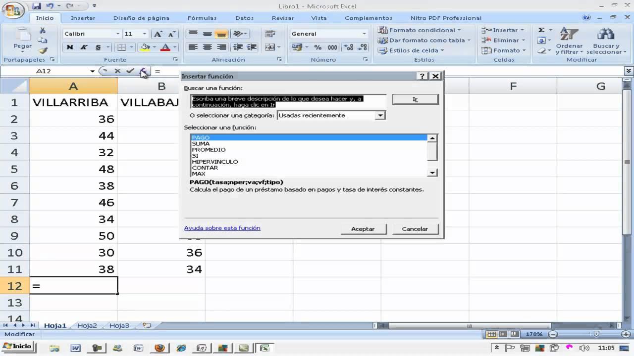 Media Y Desviación Típica Excel Matemáticas 6º Primaria Ainte