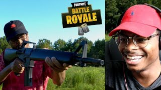 IM IN FORTNITE! | Fortnite PlayGrounds In Real Life! | Reaction