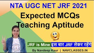 NTA NET JRF 2021 Expected MCQs Teaching Aptitude