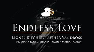 Download lagu Endless Love - Lionel Ritchie, Diana Ross - Piano Karaoke Instrumental Cover with Lyrics