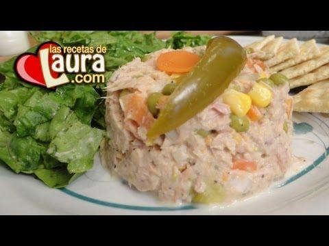 Ensalada de at n las recetas de laura recetas light youtube - Ensalada de arroz light ...