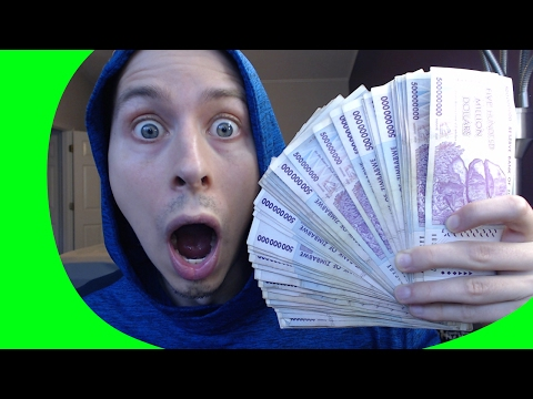 HUGE JACKPOT! $500,000,000.00 (500 Million Dollars) Searching COLD HARD ZIMBABWE CASH For Rare Money