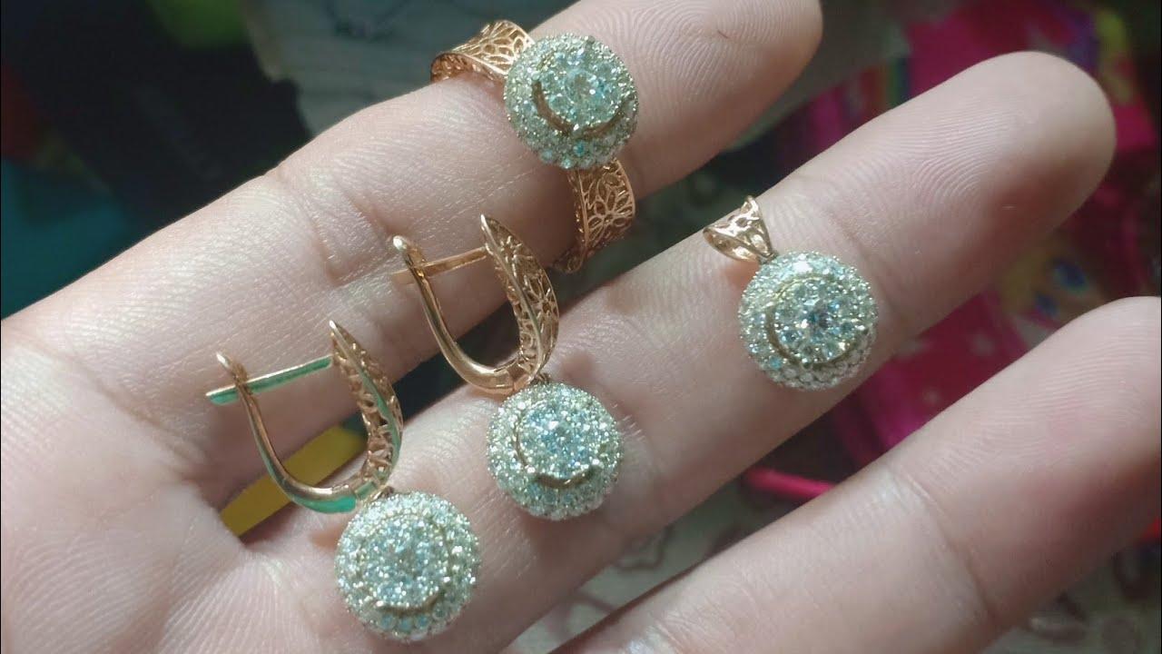 1 Set Perhiasan Emas Berlian Model Terbaru 2019 Micro ...