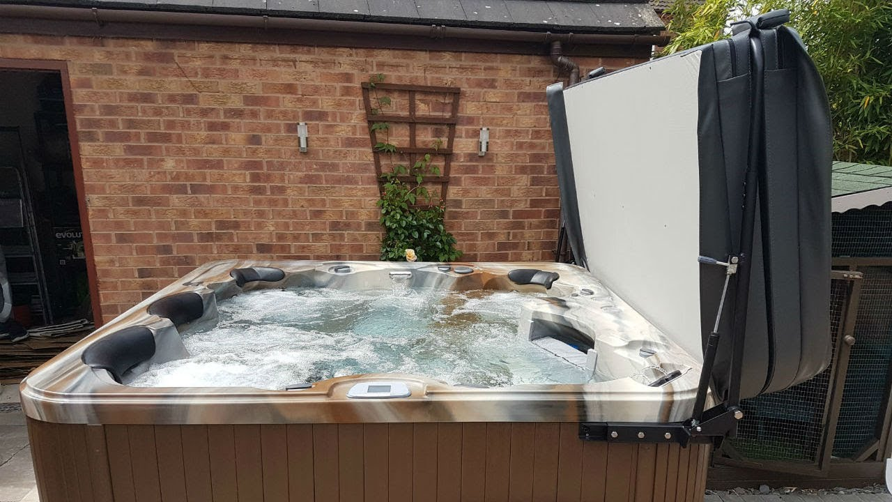 How To Fit The Triton Spa Lifter By Hot Tub Suppliers - YouTube