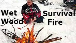#1- Wet Wood Fire Starting / Easy Light Firestarters / Blizzard Kit / Snowmobile Survival Kit