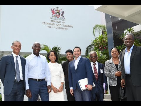 Prime Minister Rowley and the Trinidad and Tobago Delegation arrive in Jamaica