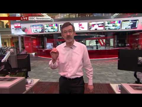 BBC TV News moves to New Broadcasting House, 18 March 2013