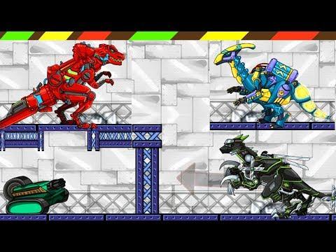 Dino Robot Fortress: Tyranno Red, Lightning Parasau, Ninja Velociraptor   DCTE VN