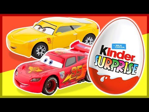 Киндер Сюрприз. ТАЧКИ 3. Cars 3. Kinder Surprise Eggs unboxing.