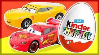 Киндер Сюрприз. ТАЧКИ 3. Cars 3. Kinder Surprise Eggs unboxing.