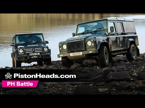 Mercedes G-Wagen G350d vs Twisted T40 Land Rover Defender 110 off-road | PH Battle | PistonHeads