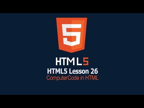 Computer Code in HTML | Lesson 26 HTML Tutorial | safhatech.com thumbnail