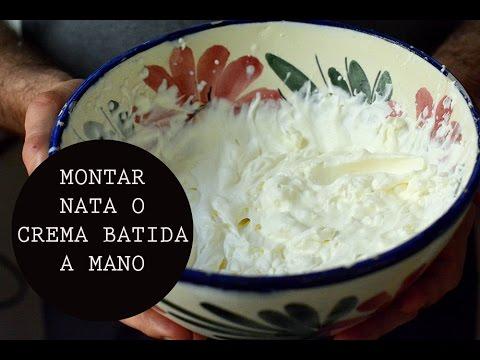 Montar Nata O Crema Batida A Mano Cooking Tip Las María Cocinillas Youtube