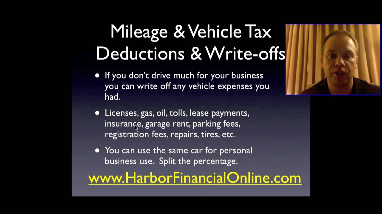 tax write off for gas mileage