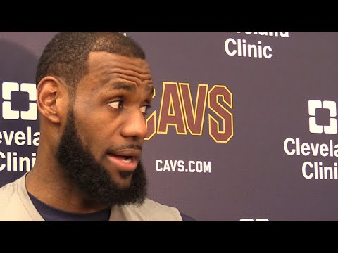 LeBron James on facing the Warriors and Cavs' rut