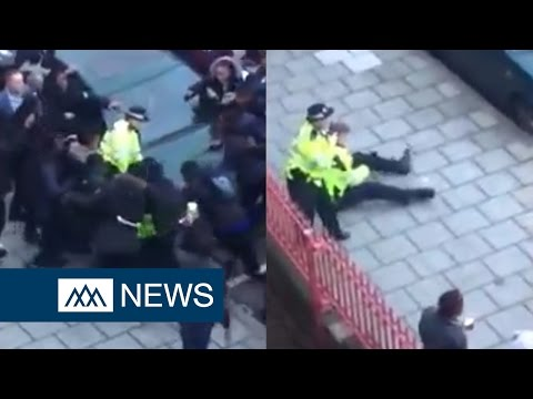 Footage shows 30 children attacking police officers in New Cross, London - DIBC News