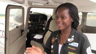 15 year old Aviator, Kimberly Anyadike, makes her historic transcontinental flight.