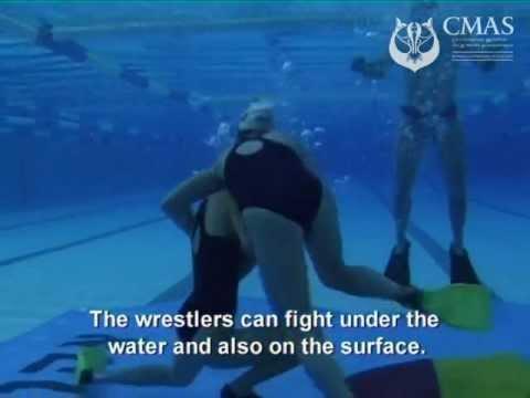 veiwed underwater Lesbian from