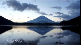 富士4湖から望む富士山 ファントム3空撮 Mount Fuji Fuji Four Lakes